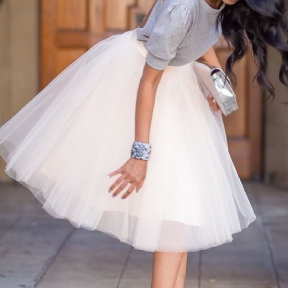 ❤ ❤️SALE ❤ ❤ Tutu tulle full skirt black white L from ...