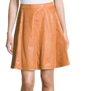 Diane Von Furstenberg Riley Lambskin Leather Skirt