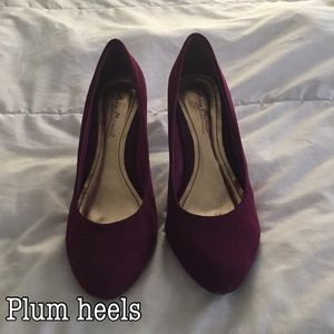Plum colored heels