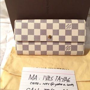 3f7e15ff3ab9 Louis Vuitton Bags - Louis vuitton Sarah wallet damier azur
