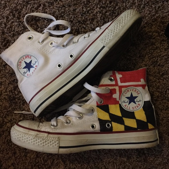 b1bcc4c36e09 Converse Shoes - Maryland colored white converse