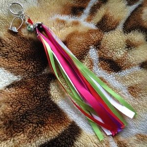 ⚡️SALE⚡️ Handmade colorful green keychain