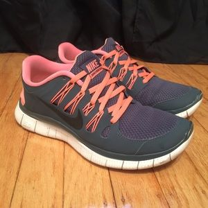 fdb87be7a00f Nike Shoes - Nike Free 5.0 Coral and Grey