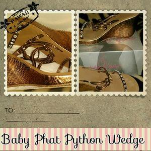 🎉🎉HP 2/16/15 Baby Phat Python Wedge heels