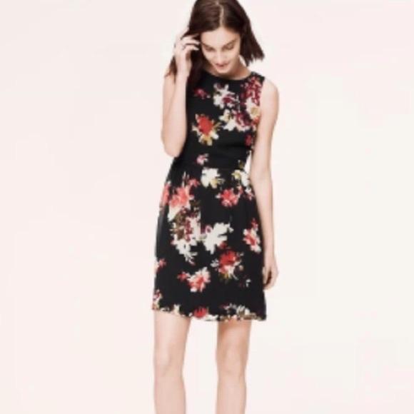 591b6e14802ea Ann Taylor LOFT Chiffon Floral Dress