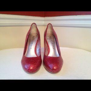 red white house black market heels on Poshmark