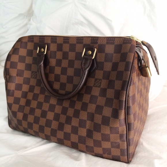 8653ce2da414 Louis Vuitton Handbags - LOUIS VUITTON Damier Ebene Speedy 30