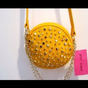 Betsey Johnson SUPER STAR Crossbody Yellow NWT