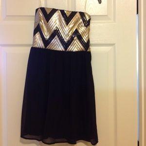 NWT My Michelle Chevron Semi-Formal Dress