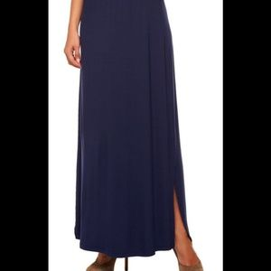 Isaac Mizrahi Dresses & Skirts - 🚚LAST CHANCE MAKE ME AN OFFER🚚Navy Maxi Skirt