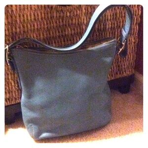 Blue coach messenger bag