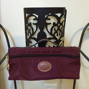 Longchamp Burgundy Cosmetic Bag