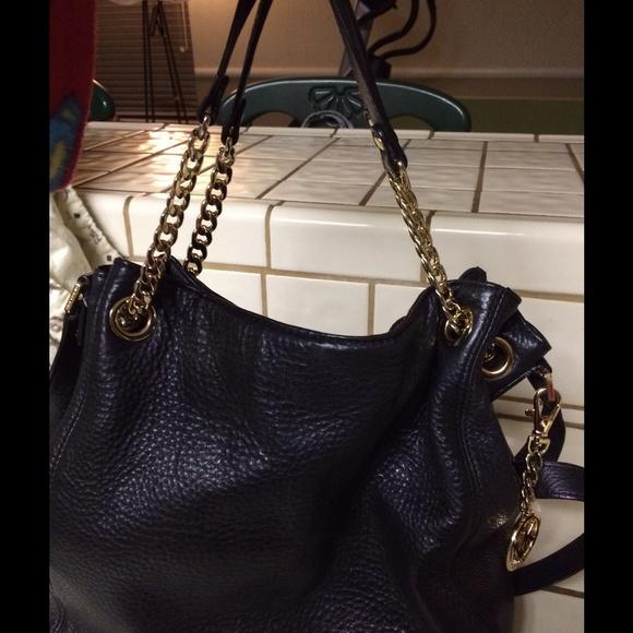 abac3fa536aa Michael Kors Black Bag with Chain Strap. M 54dd896041b4e051430037b2