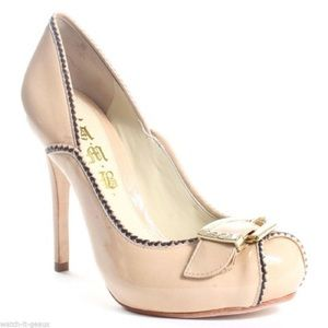 ***SOLD****L.A.M.B. Daizy Nude  Leather Pumps