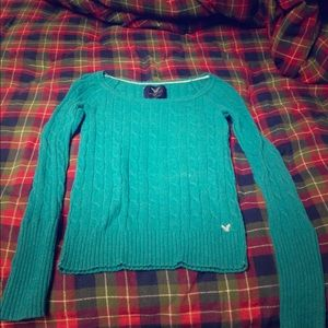 Teal American Eagle Sweater