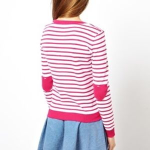 Asos | pink heart patch sweater