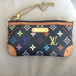 LV small leather chain purse