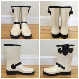 Black and White Aldo Rain Boots