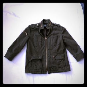 apostrophe  jacket-green