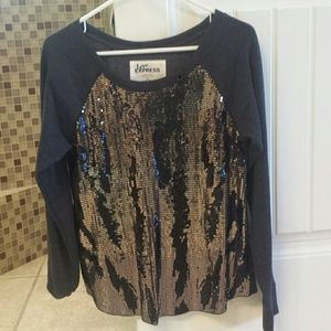 Express Tops - Express women's size small sequence sweatshirt.