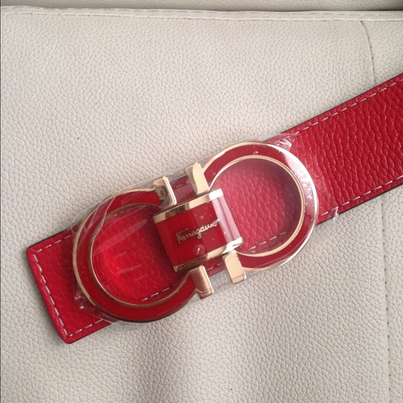 Real Ferragamo Belt >> Red Real Leather Belt Ferragamo Nwt