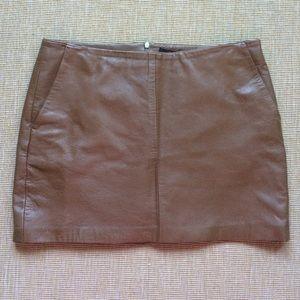 78 zara dresses skirts zara brown leather mini