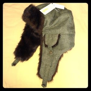 BNWT Faux Fur Lined Hat