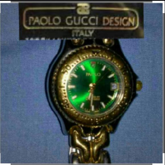 b9c48223dbc Paolo Gucci Gucci green face watch. M 5744a7f12de5124b520013d5