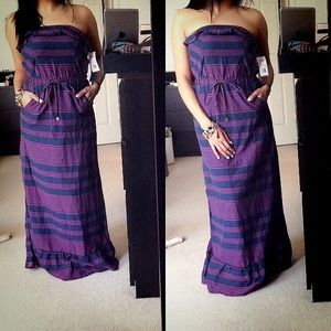 Tommy Girl Dresses & Skirts - SALE💜Tommy girl purple strapless maxi dress
