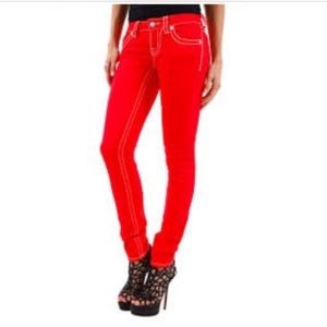 Red Miss Me Jeans