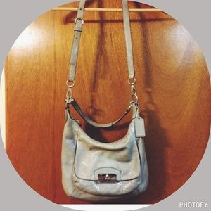 Coach Kristin grey patent leather bag
