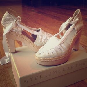 Stella McCartney wooden platform heels