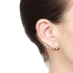 Rue Gembon Crystal and Pearl Ear Jackets