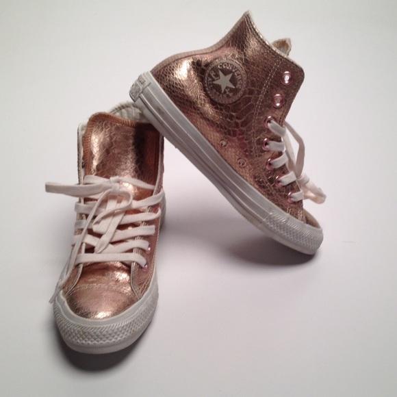 Converse Shoes | Pink Metallic Converse
