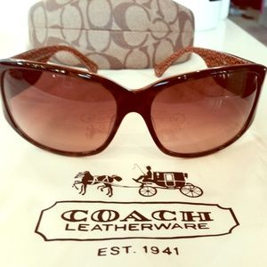  Coach Sunglasses brown tortoise Madeline 