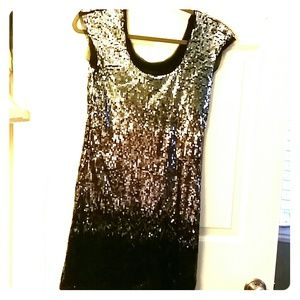 Sequined ombre cocktail dress