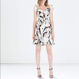 Zara printed crepe dress