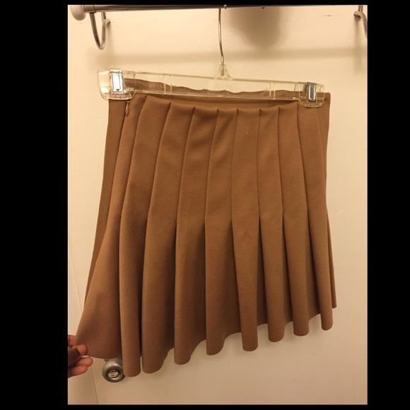 52% off Forever 21 Dresses & Skirts - Khaki Brown Pleated Skirt ...