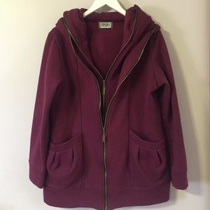 Plum Double Zipper Jacket