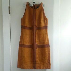 Longchamp RTW brown/orange pattern dress