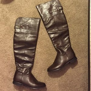 knee thigh high boots 8 from sydney s closet on poshmark