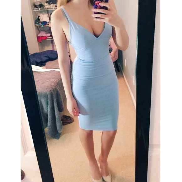 57% off Tea You Dresses & Skirts - Baby Blue Bodycon Dress from ...