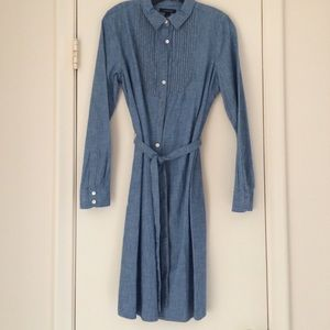 Lands' End Dresses & Skirts - Chambray Self-Tie Dress