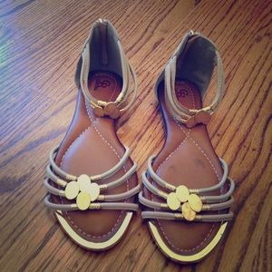 Gold Sandals (Size women's US 10)