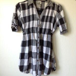 Black and white plaid shirt