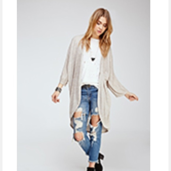 28% off Forever 21 Sweaters - Long cream color Cardigan from ...