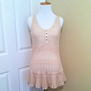 Anthropologie Deletta Crochet Tunic
