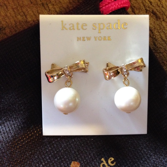 Kate Spade Pearl Bow Necklace: 55% Off Kate Spade Jewelry