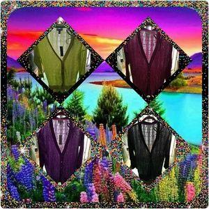Linen/cotton blend cardigans