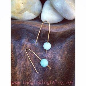 Accessories - New artisan aquamarine  gemstone earrings